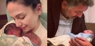 Mustafa Uslu ve Sinem Öztürk'ten aile pozu