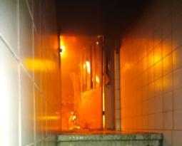 Elektrik panosundan çıkan yangın mahalleliyi korkuttu
