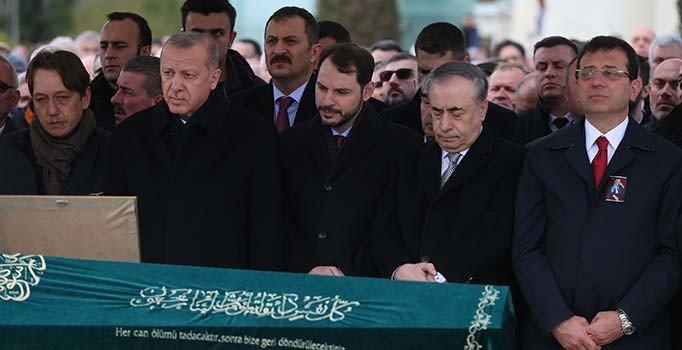Erdoğan ile İmamoğlu Atalay Şahinoğlu'nun cenaze törenine katıldı