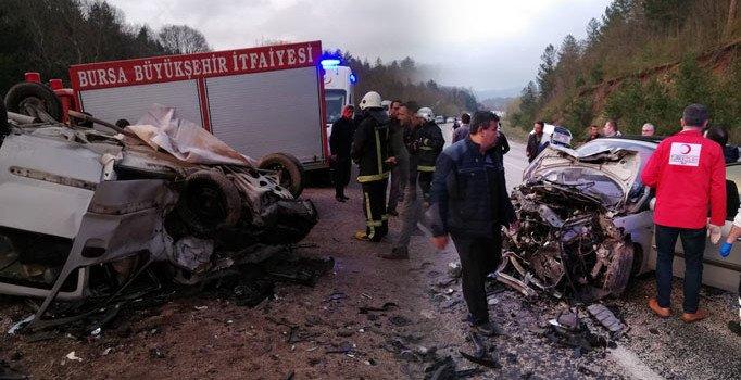 Bursa'nın Orhaneli ilçesinde feci kaza: Ölü ve yaralılar var