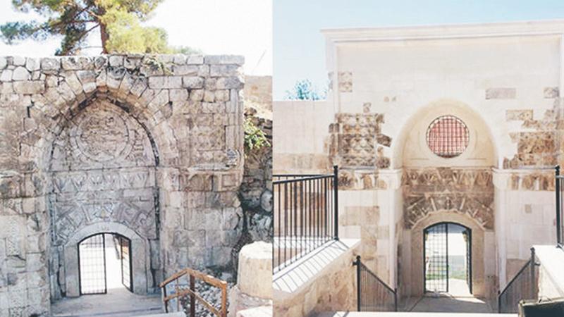 Restorasyon katliamı: Tarihi kapının eski halinden eser yok