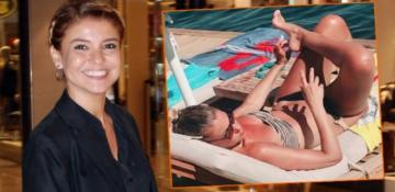 Gülben Ergen'den yaz mevsimine bikinili 'Merhaba'