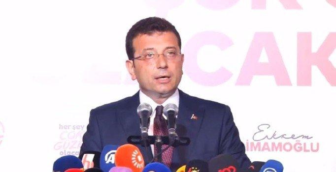 Ekrem İmamoğlu teşekkür konuşmasında Erdoğan'a seslendi