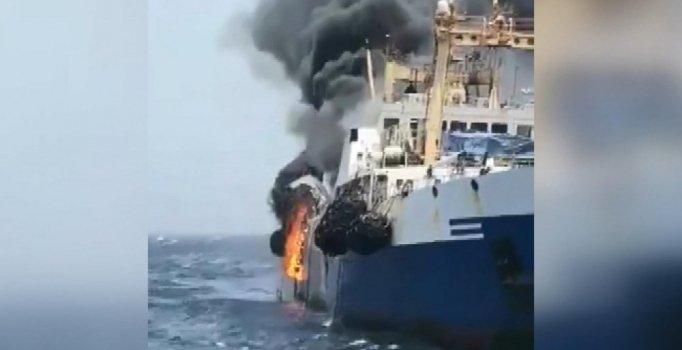 Ukrayna'ya ait gemide yangın: 1 denizci kayıp