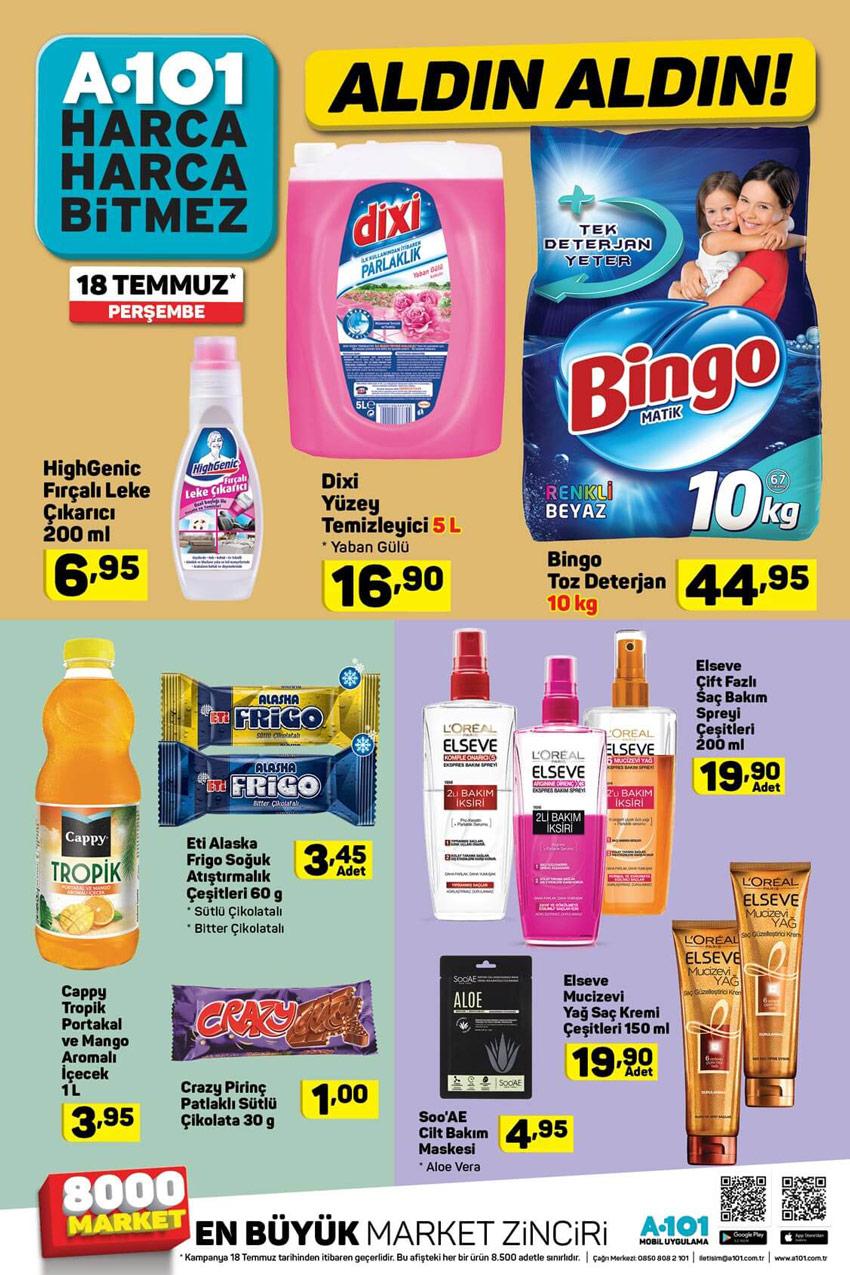 A101 18 Temmuz Perşembe Temizlik Aktüel Ürünleri