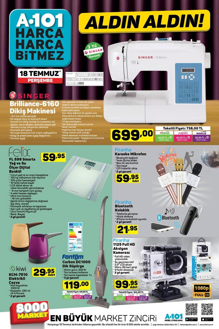 A101 18 Temmuz Yeni Aktuel Ürünler
