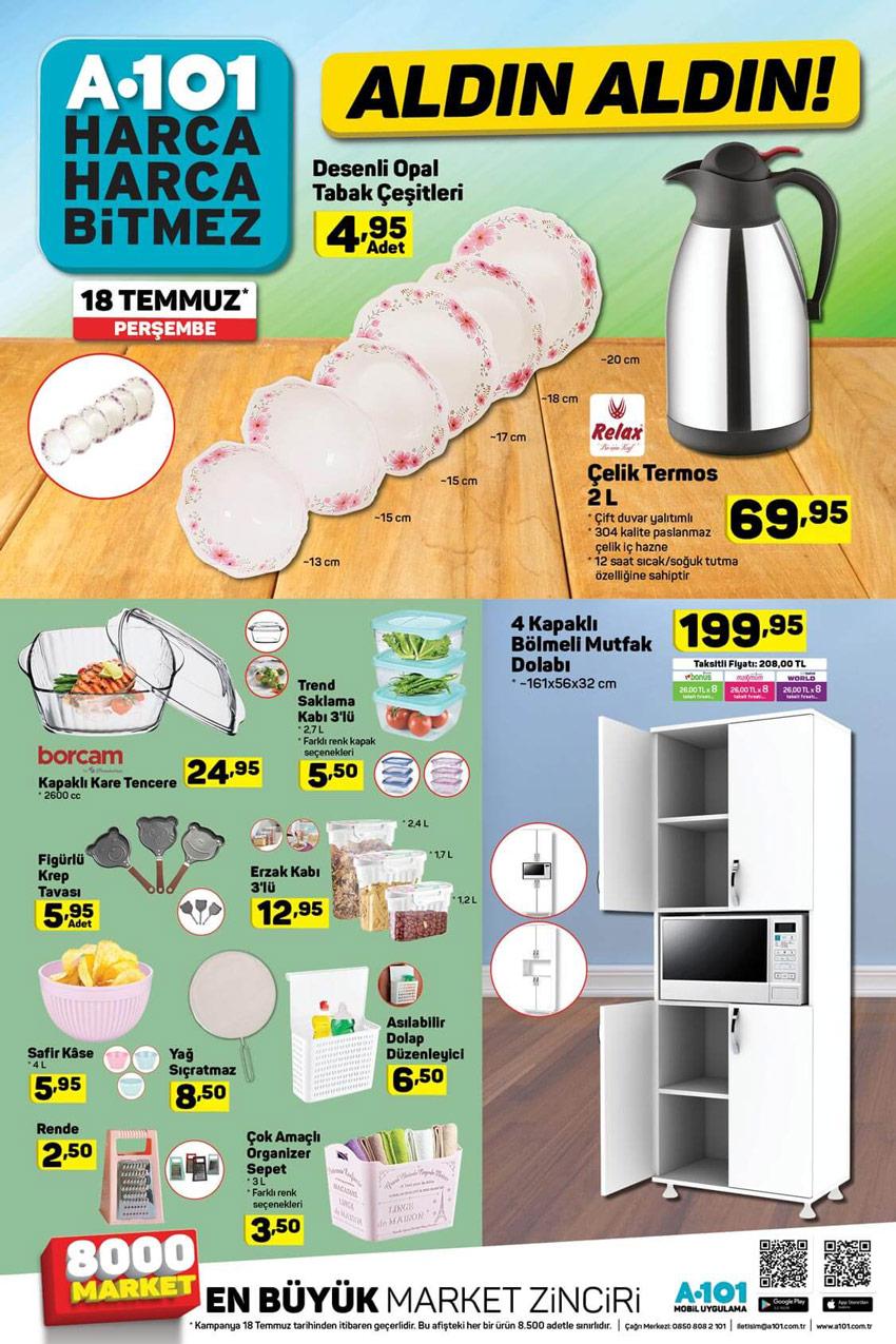 A101 Aktüel 18 Temmuz Mutfak Ürünleri