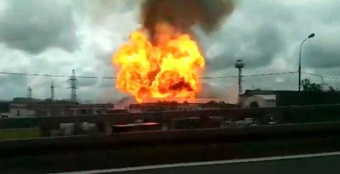 Moskova'da termik santralde yangın: 11 yaralı