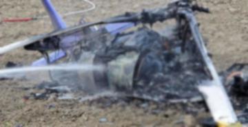 Ukrayna'da helikopter düştü: 1 ölü